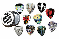 More details for oasis  10 x guitar plectrums in tin - a5 big tin range