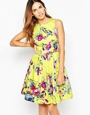 WAREHOUSE YELLOW FLORAL RACES PARTY PROM WEDDING DRESS UK 6 BNWT