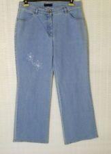 Damen-Jeans aus Denim mit Stickerei Hosengröße Größe 44