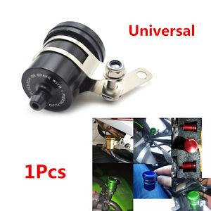 1x Aluminum Black Motorcycle ATV Brake Fluid Reservoir Clutch Tank Oil Fluid Cup