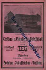STUTTGART-REGENSBURG, Werbung 1925, Tiefbau-Eisenbeton-Gesellschaft GmbH TEG