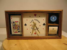 Las Vegas Casino Roulette Chip Desert Inn Matchbook 21 Card Hand Quartz Clock