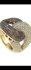 Brown Cubic Zirconia Anniversary Ring Suzy Levian Goldplated Sterling Silver
