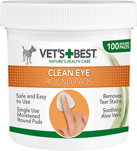 Dog Eye Cleaning Pads Tear Stain Remover Wipes Round Pets Eyes Clean Wipe Pad