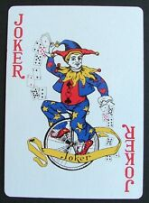 1 x Unicycle Joker playing card single swap New Zealand AT687