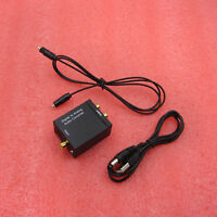 Optical Coaxial Toslink Digital to Analog Audio Converter Adapter RCA L/R Kit