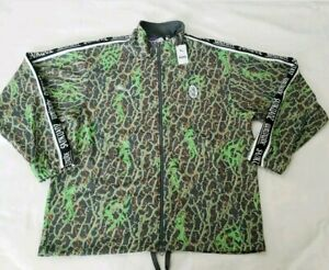 Puma x Sankuanz Track  Top Zip Jacket Camouflage Fluro Green Men's Sz. MD NWT
