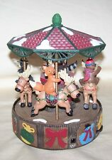 Mr Christmas North Lodge Holiday Merry Go Round Musical Animated Reindeer