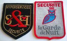 FRANCE: Lot de 2 écussons insignes sécurité neufs.