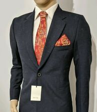 New Paul Smith Mens Suit Jacket Navy Chambray Wool Italy UK 38 IT 48 RRP £495