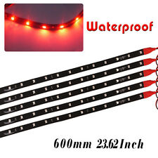 High Power  Flexible Strip Car Motorcycle 2835 LED Lights Waterproof 60cm 12V