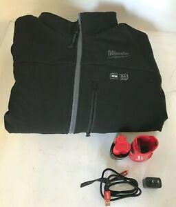 Milwaukee M12 Heated Toughshell Jacket KIT 202B-21L  Black Size L , L.N