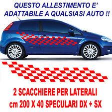 MAXI SCACCHIERA LATERALE ADESIVA TUNING X AUTO SPORTIVE