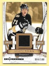 07/08 Fleer Hot Prospects Red Hot #30 Evgeni Malkin Jersey #084/100