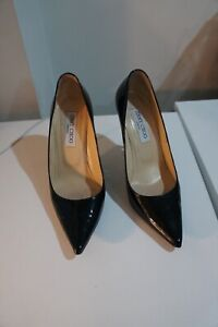 Jimmy Choo Black patent heels sz 38/UK 5