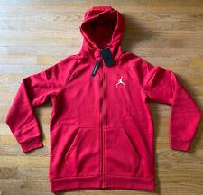 Jordan Mens Full Zip Hoodie Sweatshirt Gym Red Mens Extra Large XL Cotton Blend