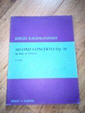 PARTITION POUR 2 PIANOS SECOND CONCERTO OP 18  SERGEI RACHMANINOFF