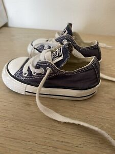 Baby Infant Converse Unisex all stars size 4 navy blue.  Good condition