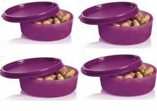 Tupperware Little Wonders Bowls Set of 4 Rhubard Purple New 6 oz