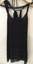Little Black Dress Beaded Party Club Cruise Casino Size 12