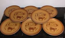 8 Vintage Rossler Swiss Porcelain (Rössler Porzellan) Plates, Switzerland