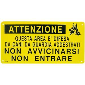Cartello Attenti al Cane Area Difesa Cani Addestrati