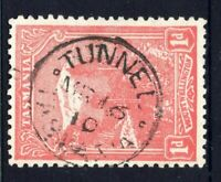 Tasmania nice 1910 TUNNEL pmk (type 1) on 1d pictorial rated S- (4)
