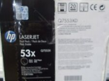 GENUINE HP 53X Q7553XD BLACK LASERJET CARTRIDGE DUAL PACK HP M2727 MFP P2014