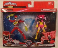 Power Rangers Mega Collection Dino Super Charge Red Ranger & Poisandra Villain