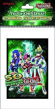 YuGiOh ZEXAL Deck Protector Card Sleeves 50ct Yuma, Astral, Reginald, Kite *NEW*