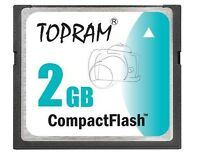 TOPRAM 2GB CF 2G Compact Flash Card fit CANON SONY NIKON COOLPIX D200 A350 D50