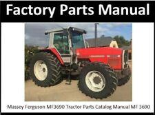 Massey Ferguson Mf3690 Tractor Parts Catalog Manual Mf 3690