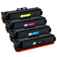 4 x Toner Cartridge for HP 414A LaserJet M454dn M454dw M479fdn M479fdw (No Chip)