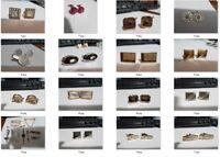 Lot #2 - 15 Pair of Vintage Cufflinks + Tie Accs - Swank Anson MOP Moonstone etc