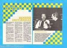 TOP983-RITAGLIO/CLIPPING/NEWS-1983- RENATO ZACCARELLI -2 fogli