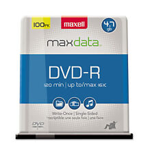 Maxell DVD-R Discs 4.7GB 16x Spindle Gold 100/Pack 638014