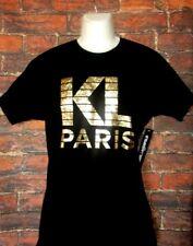 MENS KARL LAGERFELD PARIS BLACK GOLD T-SHIRT SIZE M