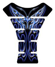 Flaming Butterfly Blue Black Motorcycle Gel Gas Tank Pad Tankpad Protector