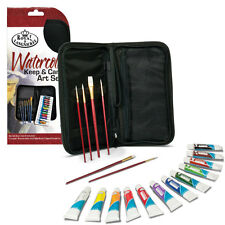 Royal & Langnickel Keep n Carry Art Set 19 Piece - Acrylic, Oil & Watercolour