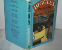 ** Uncommon ** WE Johns Biggles Learns To Fly Reprint in D/J 1980 Ex Lib