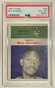 1961 Fleer Bill Russell Boston Celtics #38 PSA 6 (MC) EX-MT
