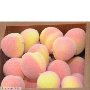 Peach Artificial Fake Fruits Gift Fake Flowers Chrismas Wedding Home Decorations