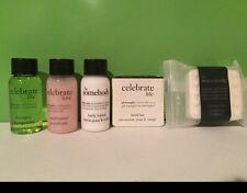 Philosophy Celebrate Travel Set Shampoo Conditioner Lotion Shower & Facial Soap