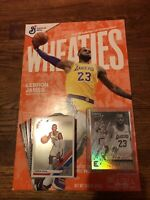 LEBRON JAMES Wheaties Cereal Box Sealed With One Random 2020 Basketball Card