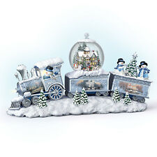 Snowfall Express Christmas Snowman Train Figurine Thomas Kinkade