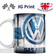 VW Volkswagen Car oil can vintage retro mug