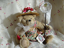 ganz cottage collectibles Felicia poseable teddy bear with butterfly net