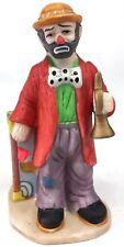Flambro The Emmett Kelly Jr Collection Hobo Street Performer Suitcase Bugle Ecu