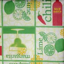 52x70 Rectangle~Vinyl Flannel Back Tablecloth~Salsa~Pepper~Cinco Mayo~New w/Tags