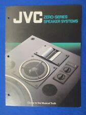 JVC Zero 9 Zero 5 Zero 3A-M5 S-M3 Speakers Brochure Catalog Original